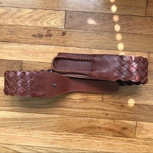 Linea Pelle Genuine Leather Braided belt Medium